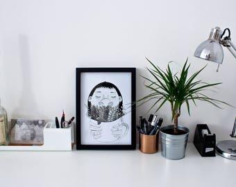 Mint Tea A4 Fine Art Print