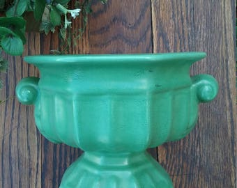 Mid Century vase / Camark pottery/ Ceramic vase / Flower vase /Green pottery/Flower pot