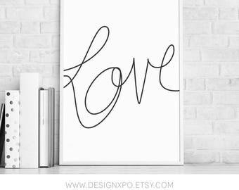 "Printable ""Love"" Wall Piece"