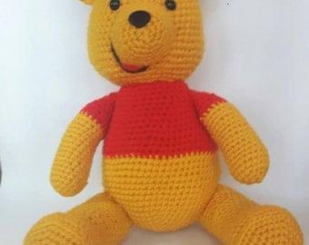 Teddy Bear, Winnie the Pooh, Amigurumi  Teddy Bear, Crochet Bear, Stuffed Animal, Kids toy, soft toy, Handmade toy, Cartoon Character