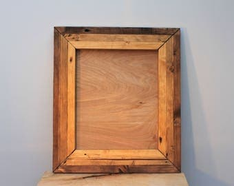 Reclaimed Wood Three Colour Picture Frame, Rustic