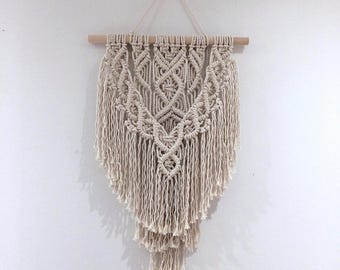 Macrame wall hanging, small size, 3mm cotton rope