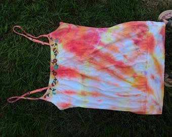 Hippie Chick Mango Tie Dye Tank