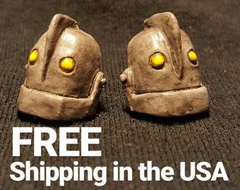 The Iron Giant Earrings - FREE USA SHIPPING - Handmade