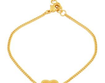 Heart Bracelet Gold. Heart Charm Bracelet