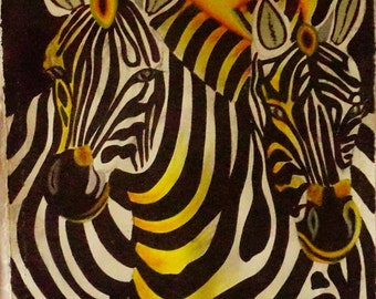 Zebra Painting, Safari Animal, Zebra Art, Wildlife Art, African Art