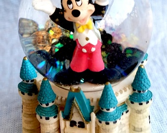 Disney Snow Globe, Mickey Mouse on Magic Kingdom
