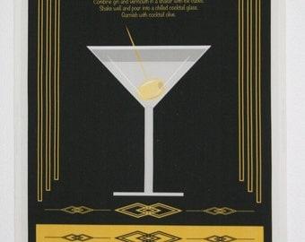 The Martini Tea Towel