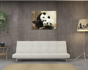 Table deco panda, baby panda, digital design