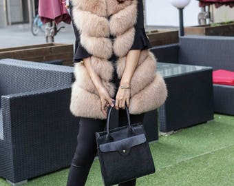 New thick gilet plus size eco fur vest, in sizes from S to 3XL