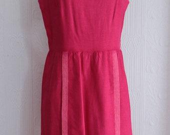 Beautiful early 60's I Magnin linen dress
