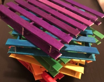 Rainbow  pallet coasters