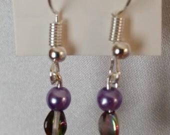 Dangle Earrings - Earrings - Beaded Earrings - Silver Earrings - Boho Earrings