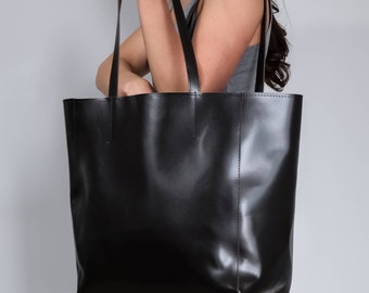 Oversize Shopper Bag, Large Shopper, Leather Tote Bag, Large Tote, Shopper Bag, XXL Handbag, Dark Brown Shopper, Leather Bag Leather Handbag