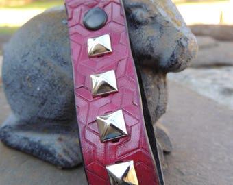 Handmade Leather Ox Blood Key Fob