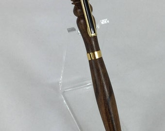 Bocote Handcrafted Detailed Wood Pen #106  w/ Box