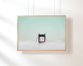 Golden Gate Bridge, San Francisco Print, Digital Download, San Francisco Photography, Minimalist Decor, Printable Art, Bridge Photography