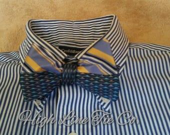 All silk multi-design reversible self-tie bow tie