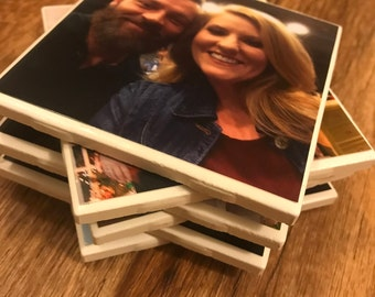 Personalized ceramic tile coasters