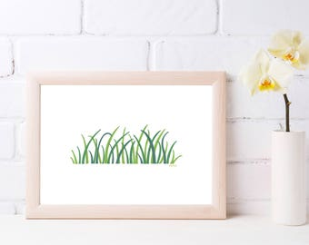 Drawing nature to download and print wild grass