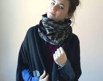 TRIBAL cowl scarf // cozy sweater infinity cowl