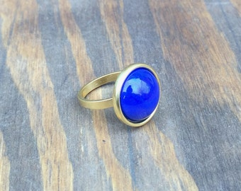 Lapis Ring. Lapis Lazuli Ring. Gold Rings. Blue Rings. Bridesmaid Jewelry. Blue Stone Rings. Gemstone Rings. Blue Jewelry. Golden Rings.