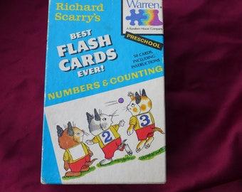 Vintage Richard Scarry's Best Flash Cards Ever / 1987