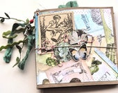 Handmade Junk Journal - Secret Garden - Upcycled - Journal - Adventure Book - Writing Diary - Art Journal