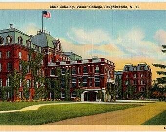 Vintage Postcard - Vassar College, Poughkeepsie, New York (Unused)