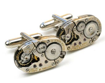 Vintage Gruen Guild Watch Steampunk Cuff Links