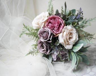 Blush Rustic Bouquet Keepsake Boho Pastel