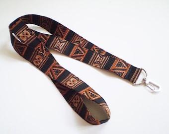 Brown African Lanyar,, Brown Black African Lanyard, Brown Afircan Key Lanyard, Brown African ID Lanyard