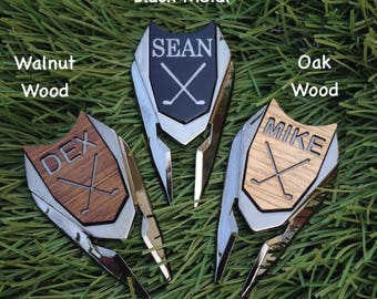 Personalized Engraved Golf Ball Marker Divot Tool,Valentines Day Golf Gifts for Men,Boyfriend Birthday Gift for Dad Husband,Anniversary Gift