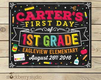 First Day of School Sign Printable - First Day of School Sign Digital - First Day of School Sign Download - First Day of School Chalkboard
