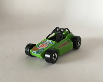 Rock Buster - vintage Hot Wheels diecast car - green - Mattel Hong Kong - toys collectible - race car - 1975 70s - Free shipping Canada USA