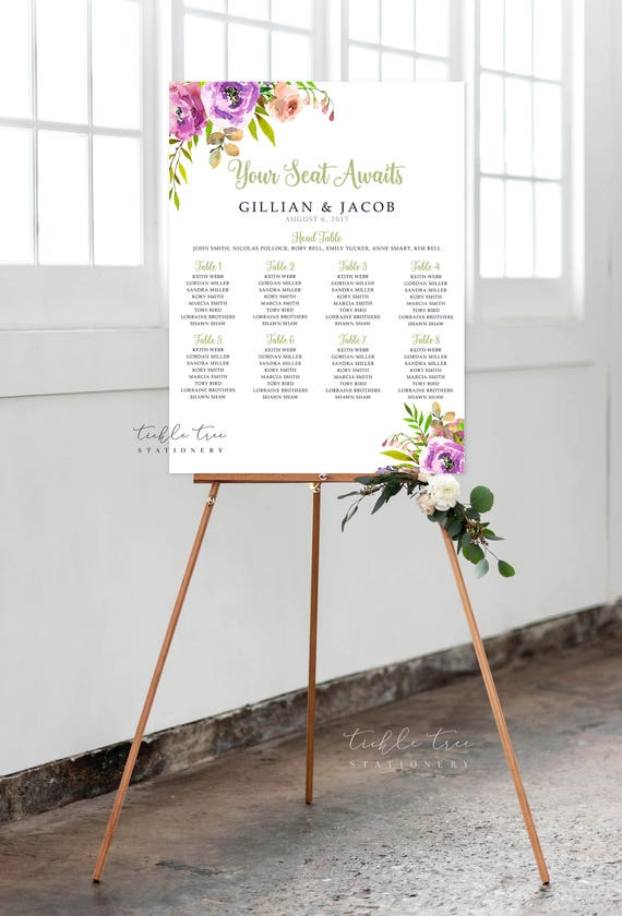 Seating Chart - Peony Love (Style 0034)
