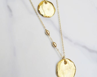 Collier & Sautoir pétale Myconos // Short or long Myconos Petal necklace