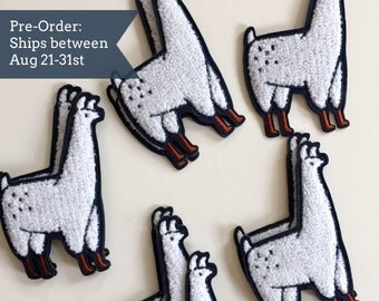 PRE-SALE : Llama Patch / Chenille Llama Patch - Illustrated