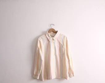 Pastel Striped Button Down Shirt