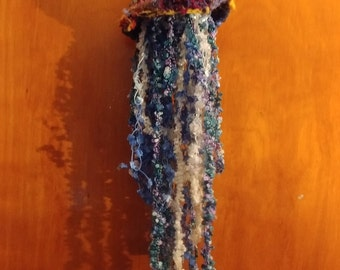 Jellyfish of Joy: A Crocheted Sea Wonder OOAK