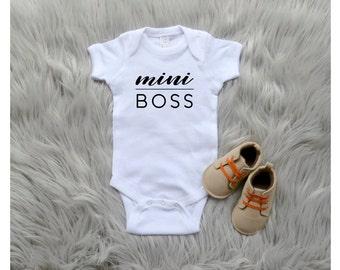 Mini Boss One Piece Baby Bodysuit