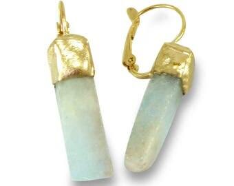 Aquamarine Earrings, Aquamarine Drop Earrings, Aquamarine Dangle Earrings, March Birthstone, Gold Aquamarine Earrings, Gemstone Earrings.