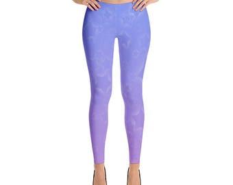 Magical Girl Starry Leggings (Blue/Purple)