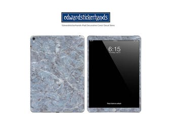 iPAD Decorative Decal Cover Skin Grey-Blue Marble Pattern!