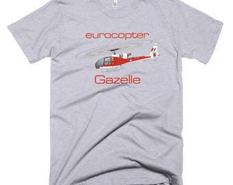 Eurocopter Gazelle Helicopter T-shirt - Personalized with Your N#