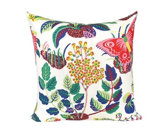 Josef Frank Exotic Butterfly Spring - designer pillow cover - Made to Order - Choose Your Size