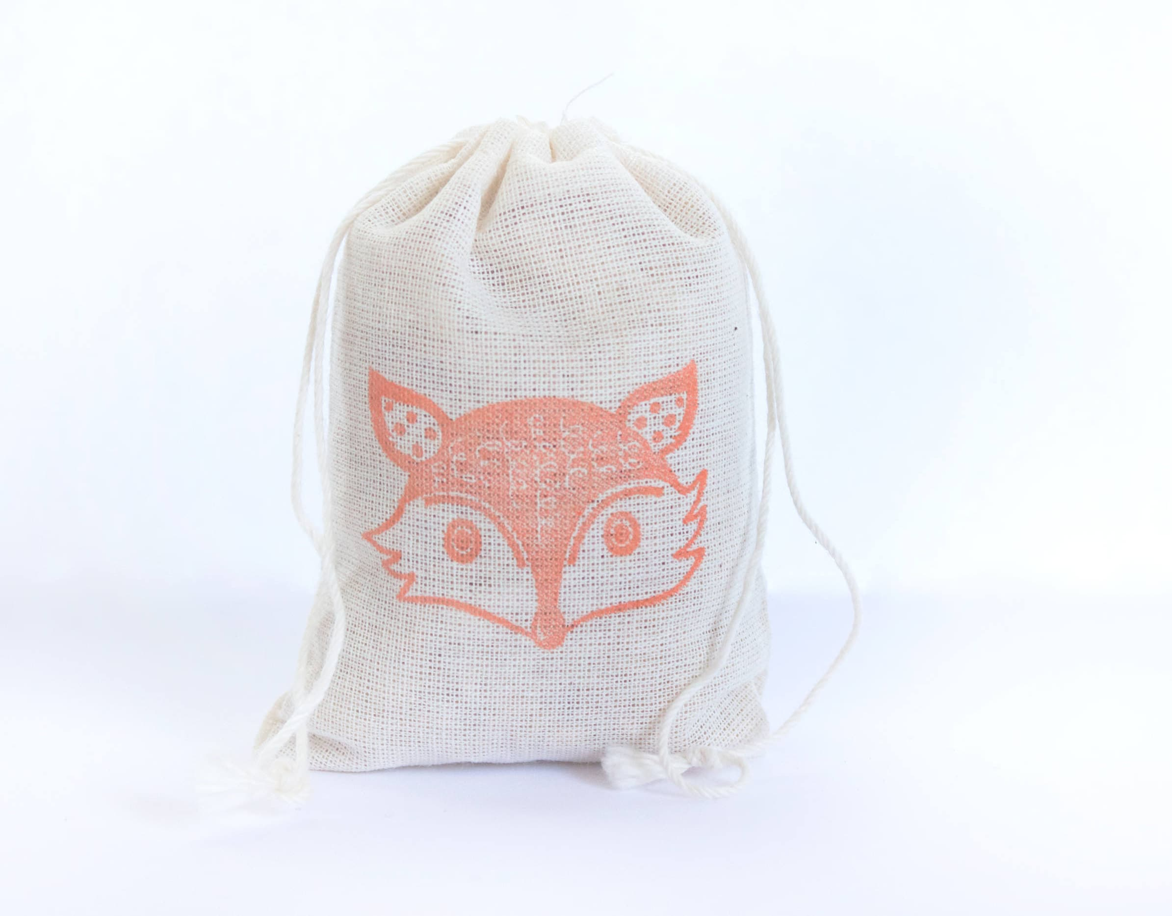 Baby Gift Sack : Fox face bag with stamp gift sack birthday party baby shower