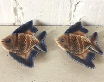 Mid-Century Wade Porcelain Angel Fish Trinket Dishes