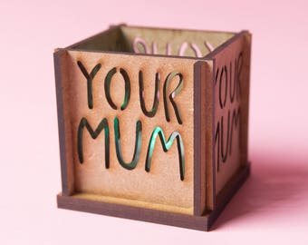 Your Mum Tea Light Holder - Insult Tea Light - Insultea - Katie Abey - Sweary gift - Swear gift - Insult gift - Candle