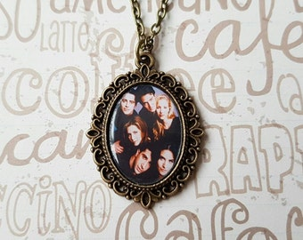 Friends TV Show Cameo Necklace / Ross Rachel Chandler Monica Joey Phoebe
